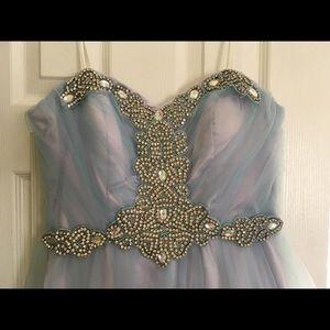 Dresses & Skirts - Light blue and lavender prom dress